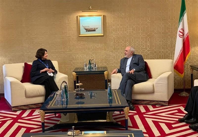 ملاقات ظریف با دبیرکل سازمان ملل در قطر